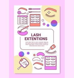 Lash extension poster template layout false vector