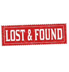 lost and found grunge rubber stamp vector image