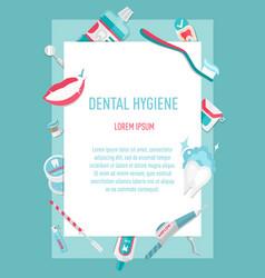 Medical teeth hygiene infographic leaflet vector