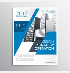 modern blue business brochure template design vector image