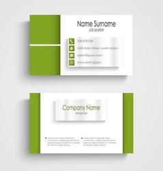 Modern green light business card template vector
