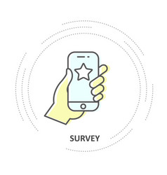 online survey - rate a service vote star on vector image