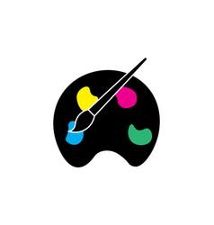 paint icon artist symbol vector image