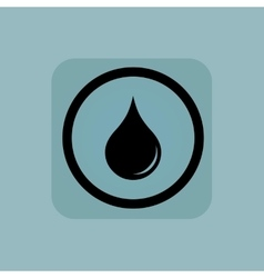 Pale blue water drop sign vector