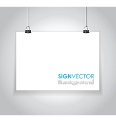 paper sign vector image