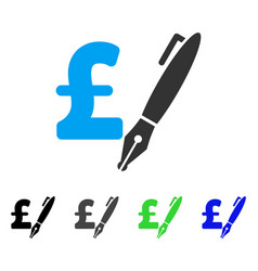 Pencil pound price flat icon vector