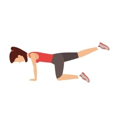 Person exercising in gym vector image