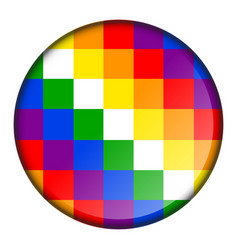 pixelated color button vector image