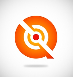 Q symbol round technology logo vector