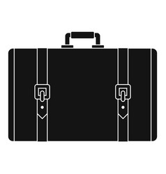 retro suitcase icon simple style vector image