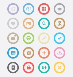 Round Simple Icons vector image