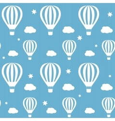 Seamless pattern whith white hot air vector
