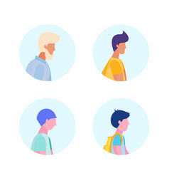 set diversity age man profile avatar icon isolated vector image