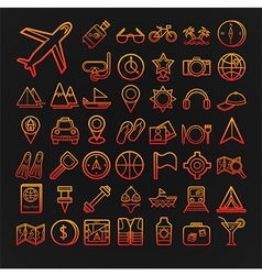 Set of 46 travel icons vector