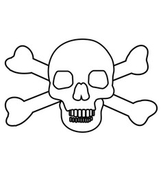 skull with crossbones icon symbol design vector image