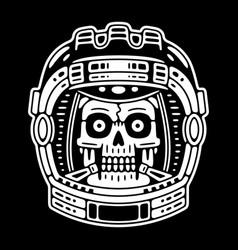 Spaceman skull sticker modern space logo vector