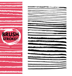 the hand painted brush strokes isolated on white vector image