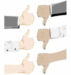 Thumbs up down vector
