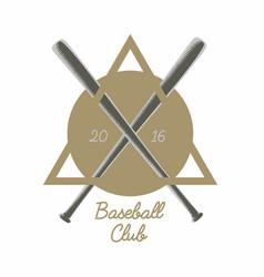 Vintage baseball club logo emblem badge or vector