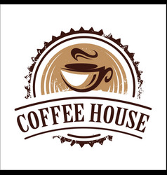 Vintage coffee house banner image vector