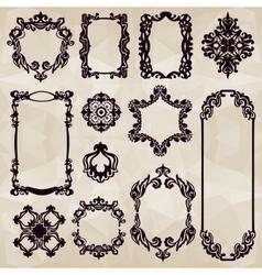 Vintage typographic element collection vector