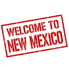 Welcome to new mexico stamp vector