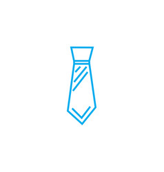 wide tie thin line stroke icon wide tie vector image