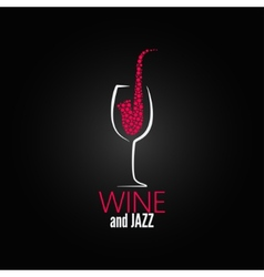 Wine glass jazz design concept background vector