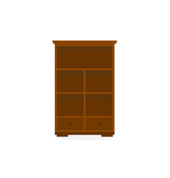 wood cabinet storage furniture vector image