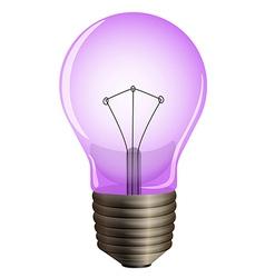 A purple light bulb vector image