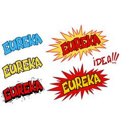 cartoon comic eureka speech effects and splashes vector image