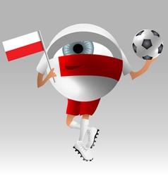 Football poland fan eyeball vector image