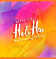 holi festival colorful greeting background vector image
