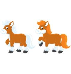 little ponies vector image vector image
