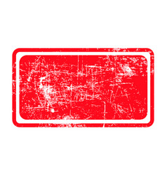 red rectangular grunge stamp with blank siolated vector image