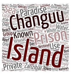 The Charm Of Changuu Prison Island text background vector image vector image
