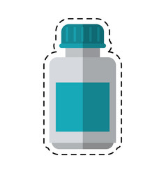 cartoon medicine bottle capsule icon vector image