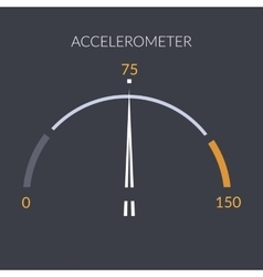 Design speedometer cars speed Meter control vector image