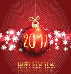 Happy new year bauble background 3110 vector