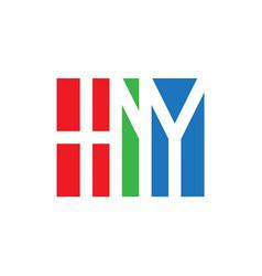 hny initial logo monogram logotype design element vector image vector image