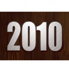 wood sign 2010 vector image vector image