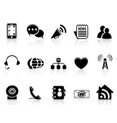 Black Social Media icons set vector image vector image