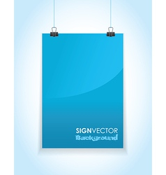 blue paper sign vector image