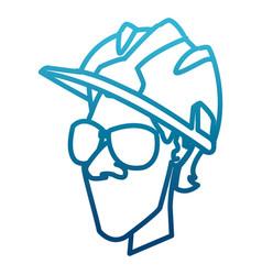 cartoon worker with tool vector image vector image