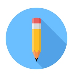Pencil Flat Design icon vector image vector image