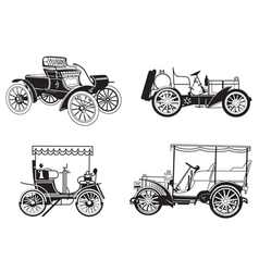 set of the retro automobiles vector image