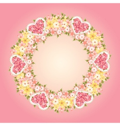 Wreath of flowers vector image vector image