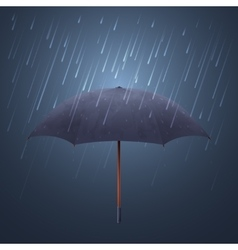 Blue umbrella and fall rain Cool water storm vector image vector image