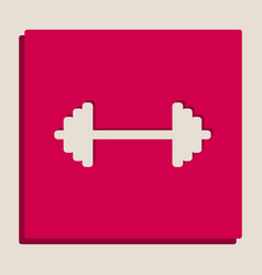 dumbbell weights sign grayscale version vector image vector image