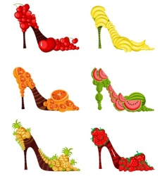 fruit shoes vector image vector image